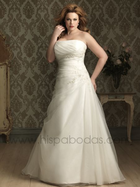 Como son las tallas de vestidos de novia