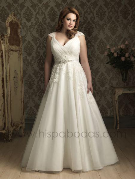 vestidos novia tallas grandes | bodaestilo
