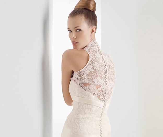 Vestidos de novia tapados de la espalda